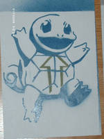 Squirtle Stencil by skorbe