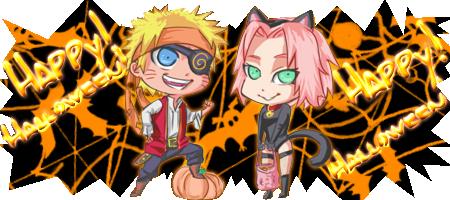 NaruSaku Halloween :O by Camidlss
