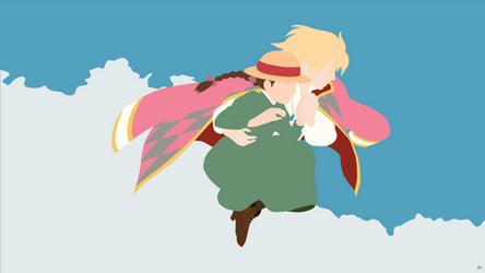 Howl/Sophie {Howl's Moving Castle} by greenmapple17