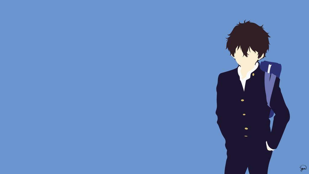 Oreki Houtarou (Hyouka) Minimalist Wallpaper by ...