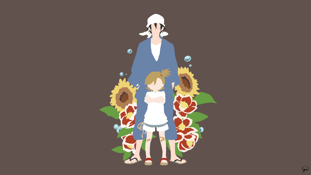 Barakamon minimalist wallpaper by greenmapple17 on deviantart for Deviantart minimal wallpaper