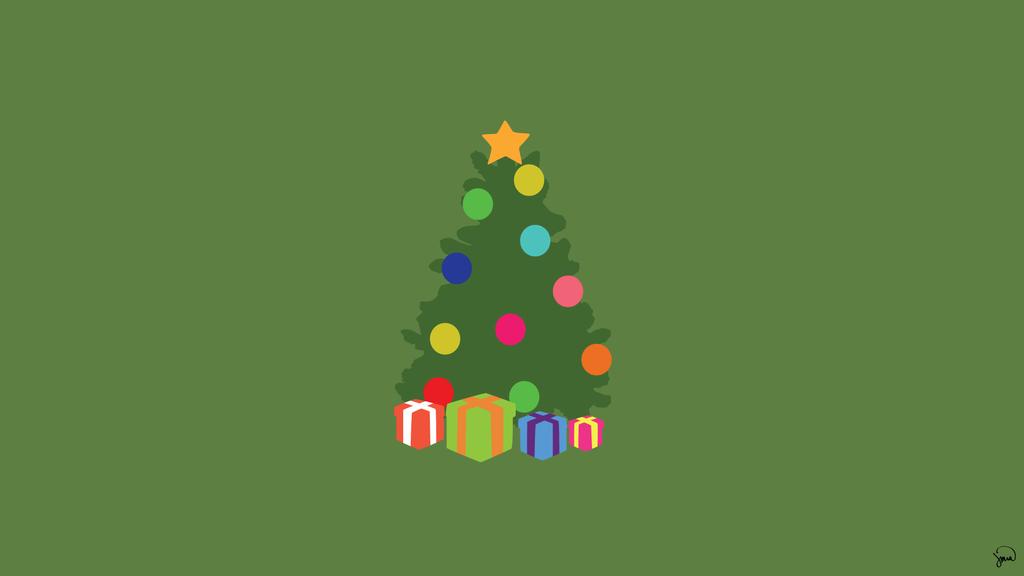 Christmas Minimalist Wallpaper By Greenmapple17