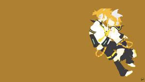 Kagamine Twins (Vocaloid) Minimalist Wallpaper
