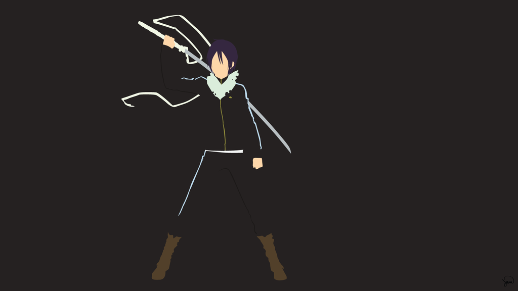 Yato noragami minimalist wallpaper by greenmapple17 on for Deviantart minimal wallpaper