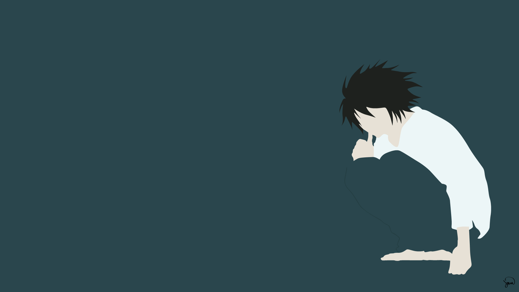 L death note minimalist wallpaper by greenmapple17 on for Deviantart minimal wallpaper