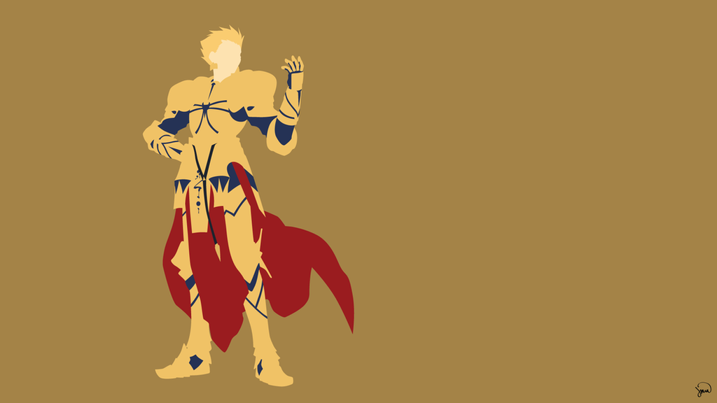 Gilgamesh Archer Fate Zero Minimalist Wallpaper By Greenmapple17