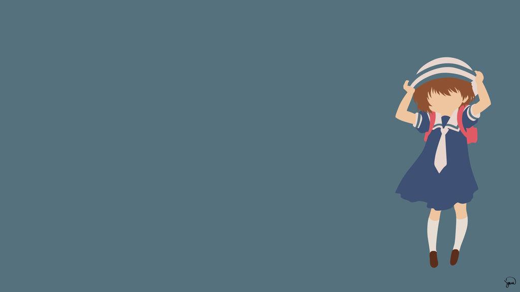Ushio Okazaki Clannad Minimalist Wallpaper By Greenmapple17 On