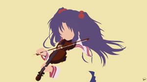 Kotomi Ichinose (Clannad) Minimalist Wallpaper
