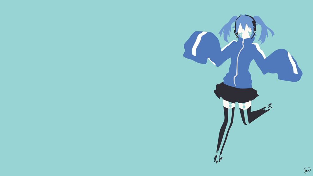 Ene (Mekaku City Actors) Minimalist Wallpaper by ...