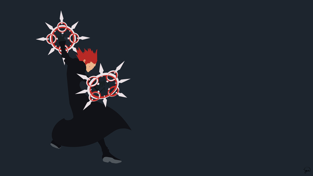Axel kingdom hearts minimalist wallpaper by for Deviantart minimal wallpaper