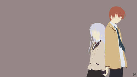 Kanade/Otonashi (Angel Beats!) Minimalism by greenmapple17