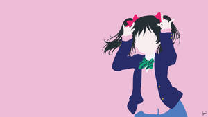 Nico Yazawa (Love Live!) Minimalist Wallpaper by greenmapple17
