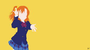 Kousaka Honoka (Love Live!) Minimalist Wallpaper by greenmapple17