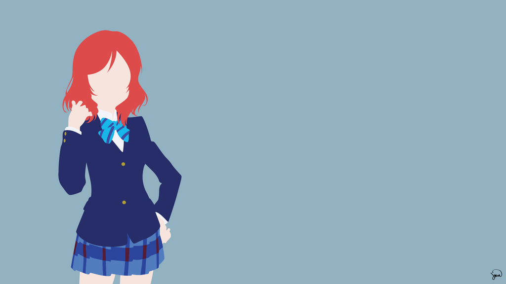 Love Live Iphone 4 Wallpaper : Maki Nishikino (Love Live!) Minimalist Wallpaper by ...