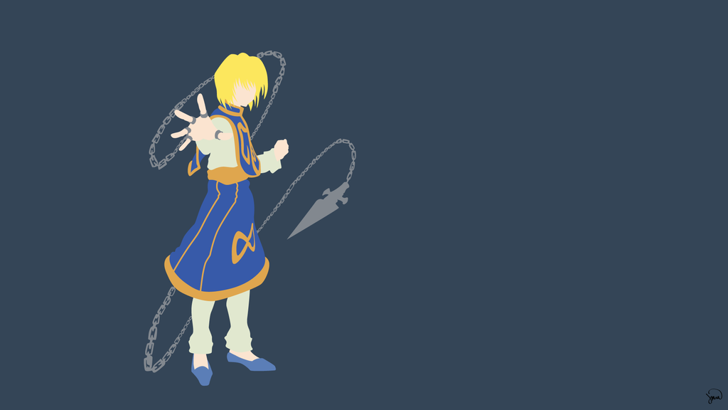 Kurapika V2 (Hunter x Hunter) Minimalist Wallpaper by greenmapple17