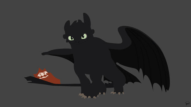 Toothless (How to Train Your Dragon) Minimalism