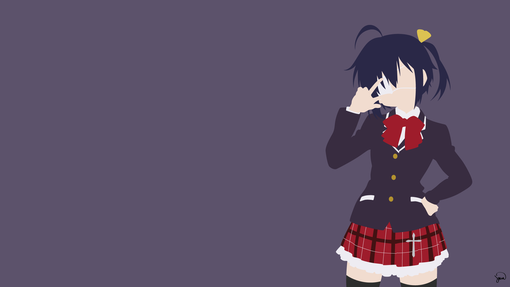 Rikka takanashi chuunibyo minimalist wallpaper by for Deviantart minimal wallpaper