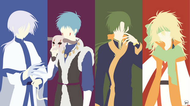 Four Dragons (Akatsuki no Yona) Minimalism