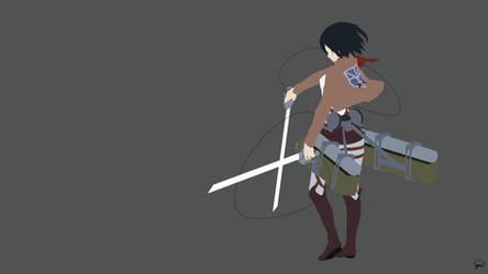 Mikasa Ackerman {Shingeki no Kyojin} by greenmapple17