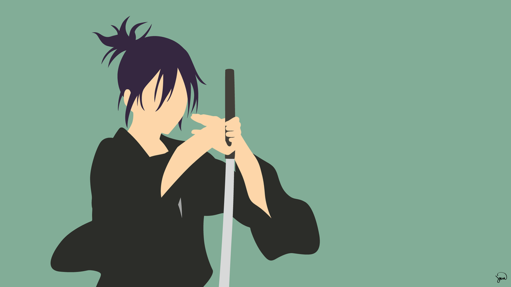 Yato v3 noragami minimalist wallpaper by greenmapple17 for Deviantart minimal wallpaper
