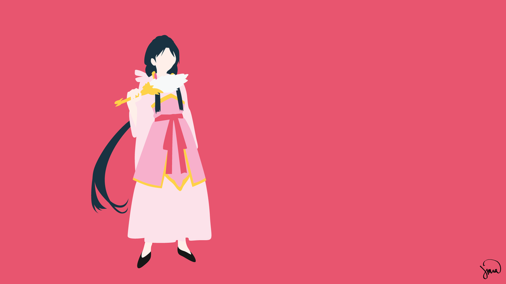 Hakuei ren magi minimalist wallpaper by greenmapple17 on for Deviantart minimal wallpaper