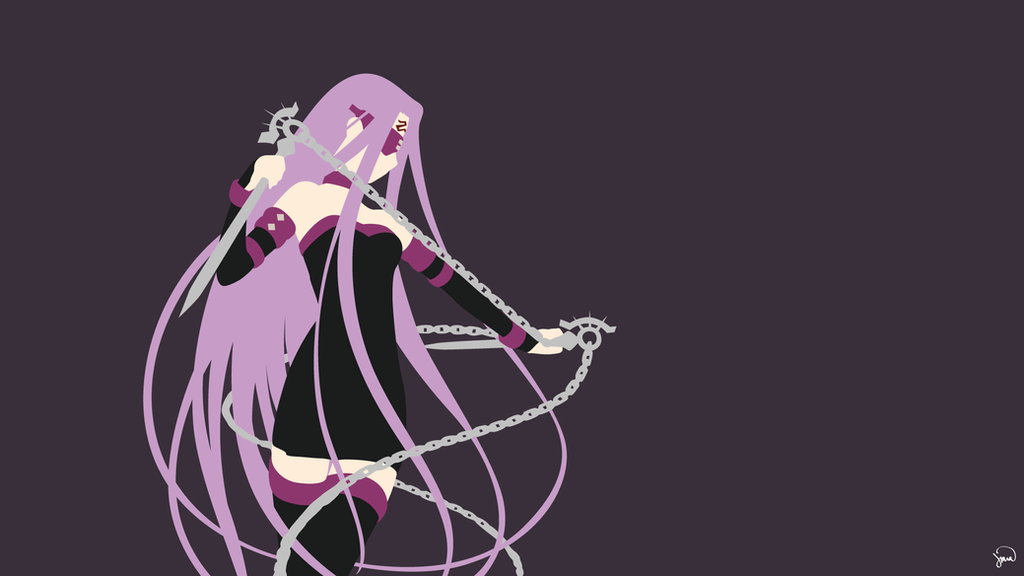 Rider (Fate/Stay Night) Minimalist Wallpaper by