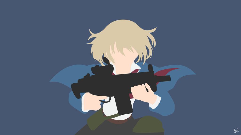 Hotaru Tachibana (Aoharu x Kikanjuu) Minimalism by greenmapple17