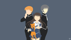 Fruits Basket Minimalist Wallpaper by greenmapple17