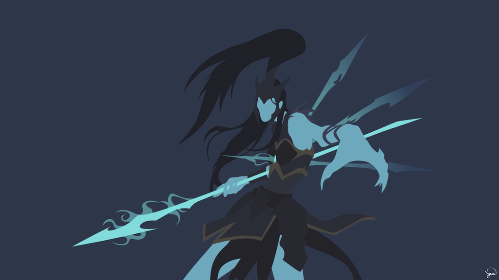 Kalista League Of Legends Minimalist Wallpaper By