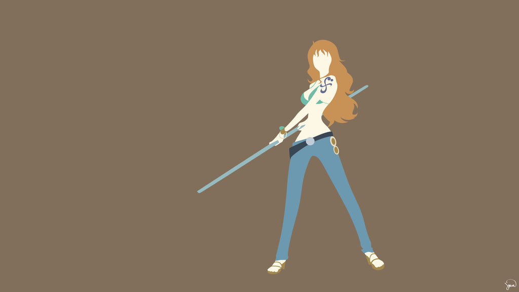 Nami one piece minimalist wallpaper by greenmapple17 on for Minimalist art pieces