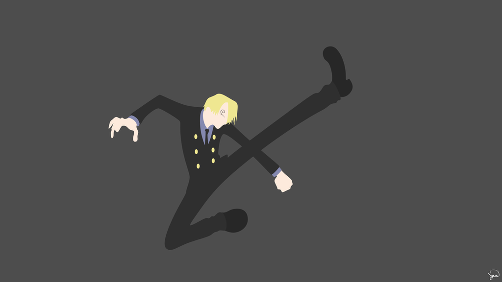 Sanji one piece minimalist wallpaper by greenmapple17 on for Deviantart minimal wallpaper