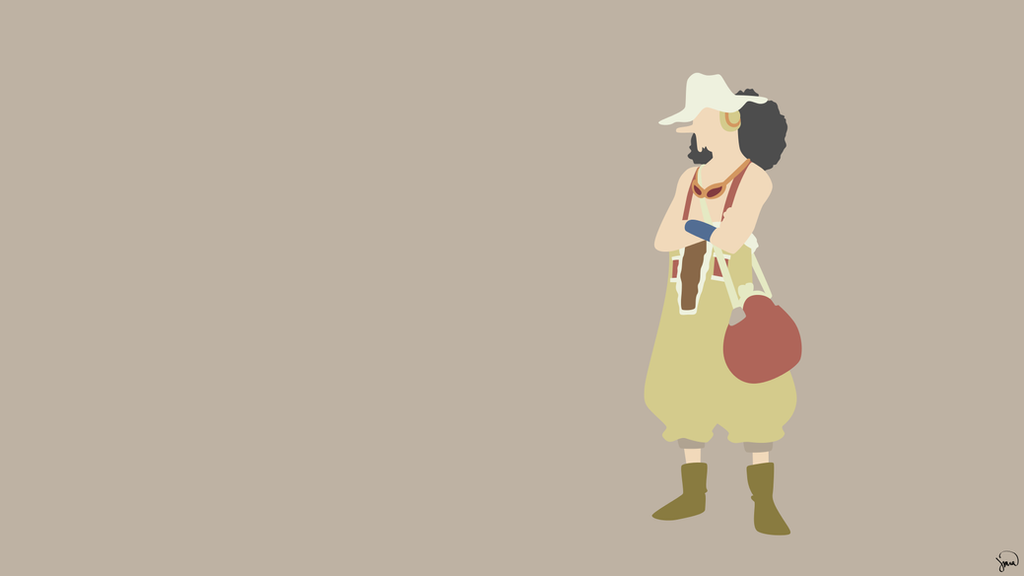 Usopp one piece minimalist wallpaper by greenmapple17 on for Minimalist art pieces
