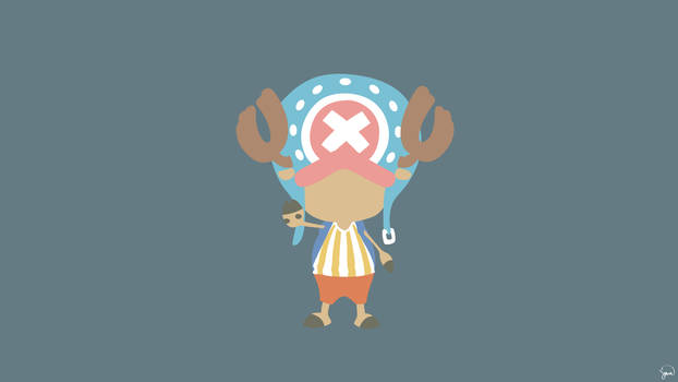 greenmapple17 74 5 Tony Tony Chopper (One Piece) Minimalist Wallpaper by greenmapple17