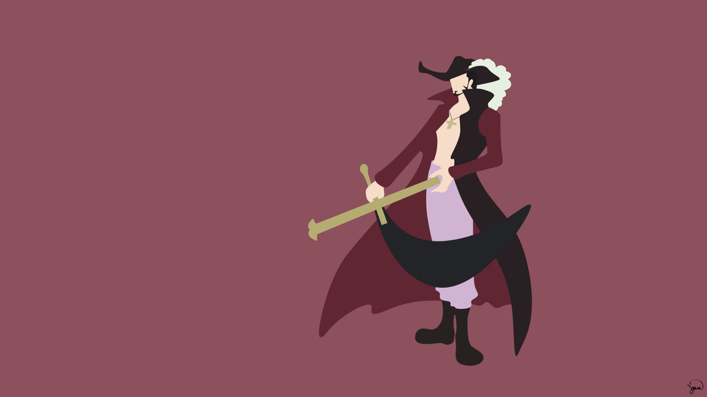 Dracule Mihawk One Piece Minimalist Wallpaper By Greenmapple17 On Deviantart