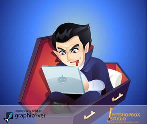 blogging vampire by petshop-studio