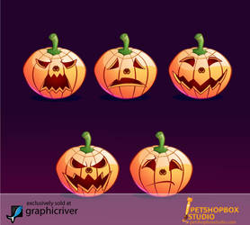 Jack O Lantern Emoticon by petshop-studio