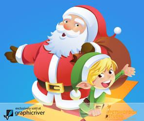 Santa And Elf by petshop-studio