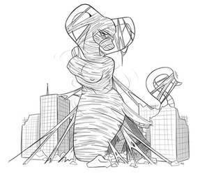 Mothra's Handiwork? by spiderweber