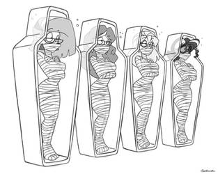 Kinktober Day 12: Mummification by spiderweber