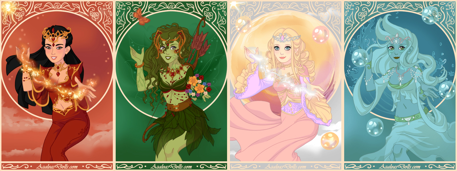 Dress up elements -  Four Elements In Magical Elf Maker By Arrelline