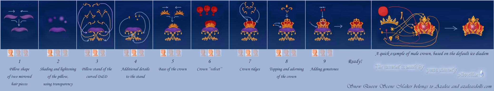 Snow Scene tutorial - royal crown by Arrelline