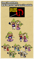 Tetra/Toon Zelda! SSBU contest NintyFans by Icy-Snowflakes