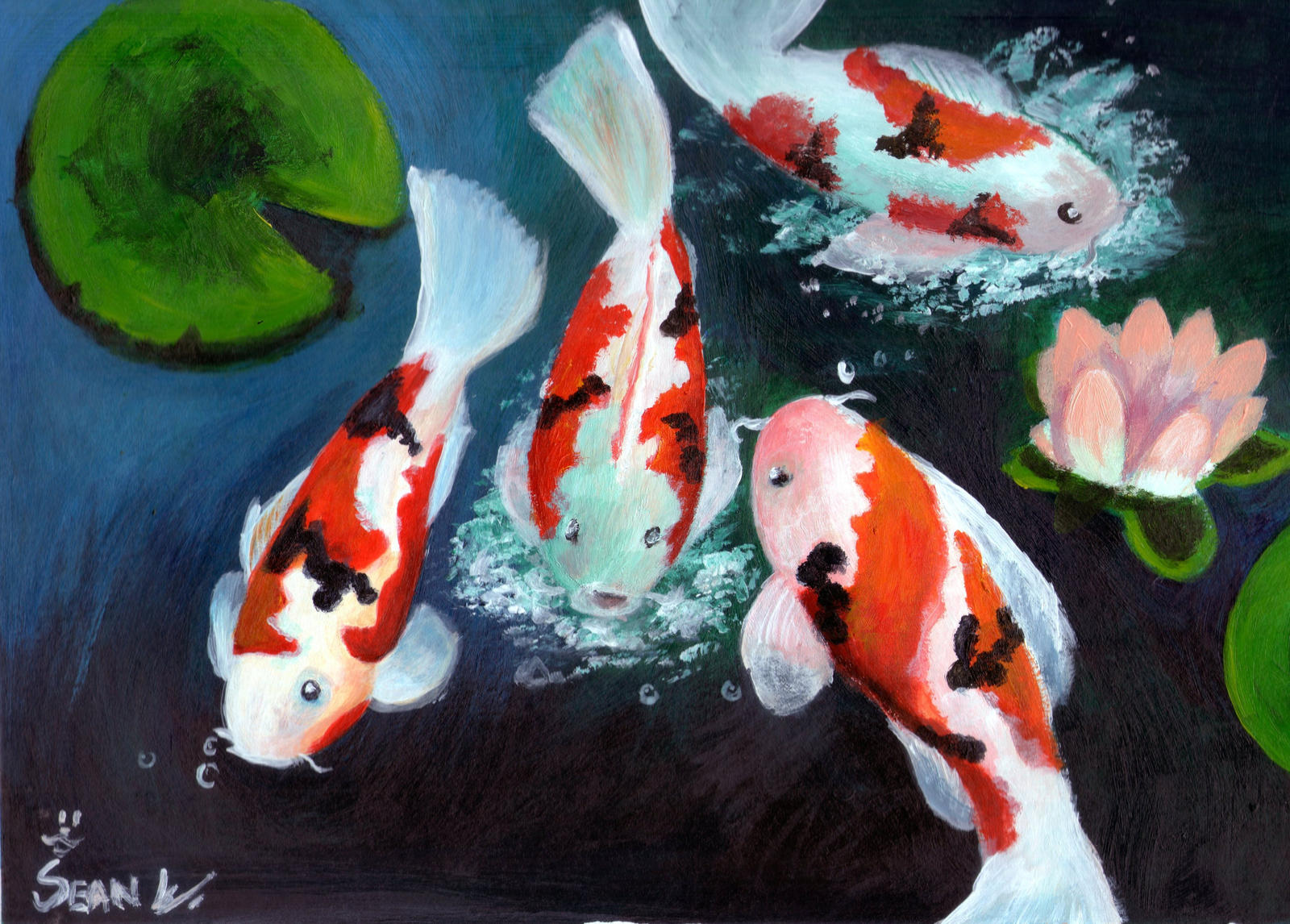Chinese koi fish by tmact on deviantart for Chinese koi fish painting