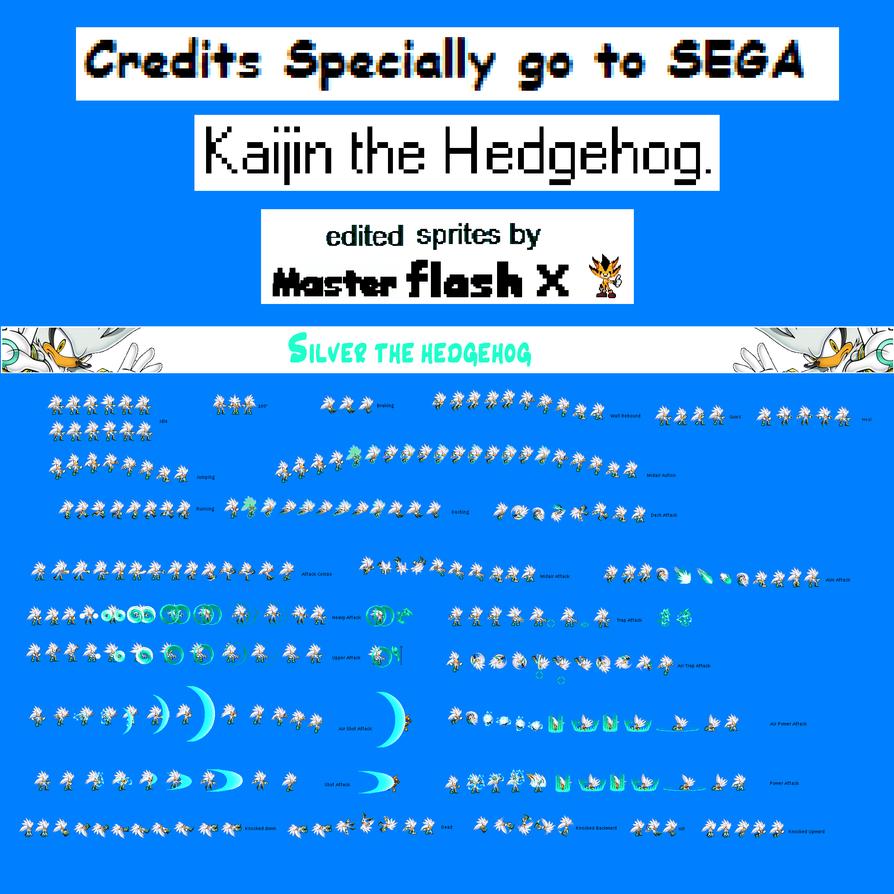 Silver The Hedgehog Sprites Pics Download