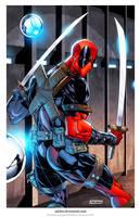 Deadpool Print... by adelsocorona
