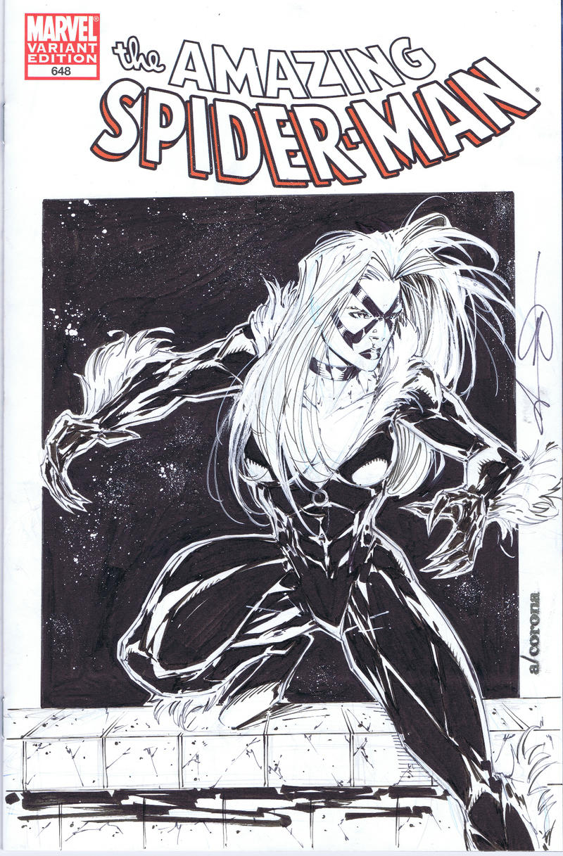 Blackcat sketchcover by adelsocorona