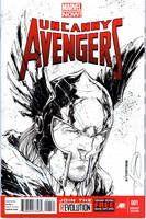 Thor sketchcover by adelsocorona