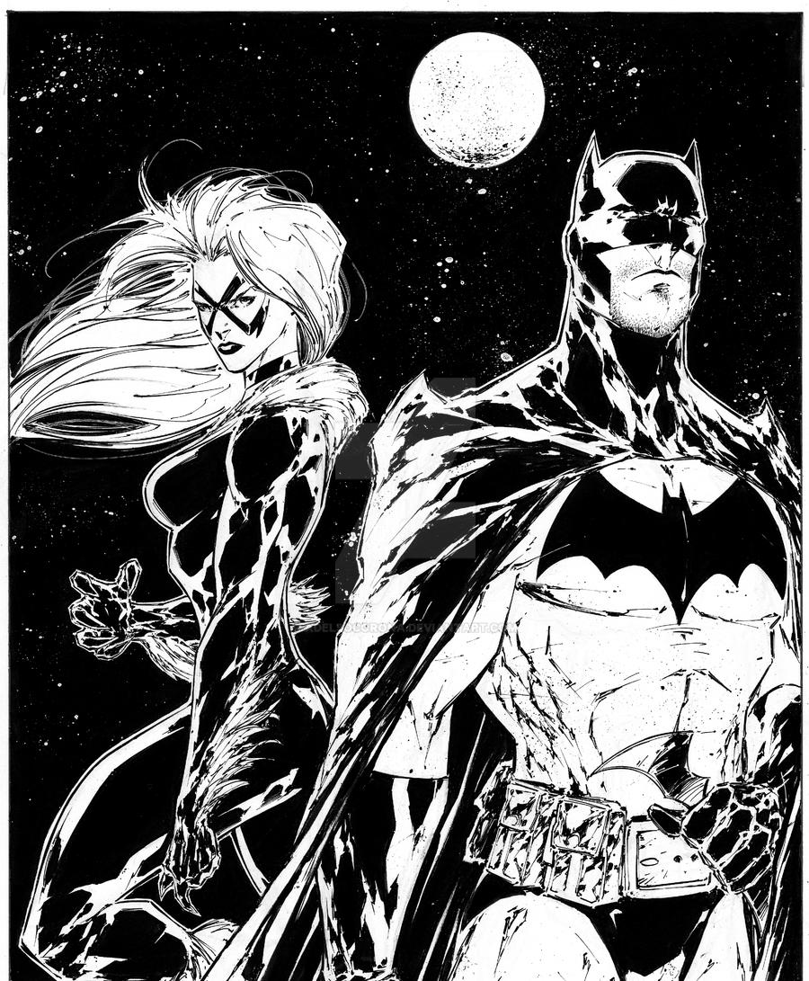 Batman/Black Cat commission by adelsocorona on DeviantArt