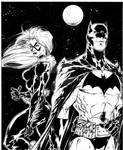 Batman/Black Cat commission