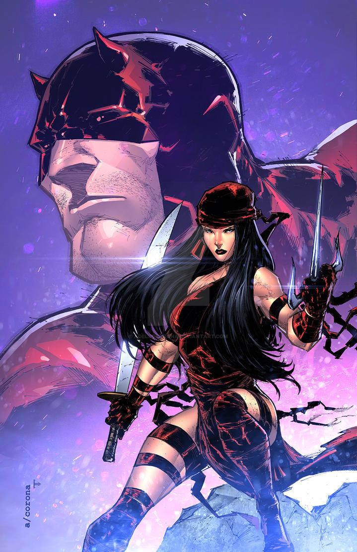 Elektra/Daredevil by adelsocorona